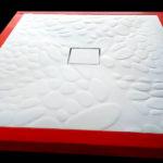 piatto doccia stampato effetto pietra