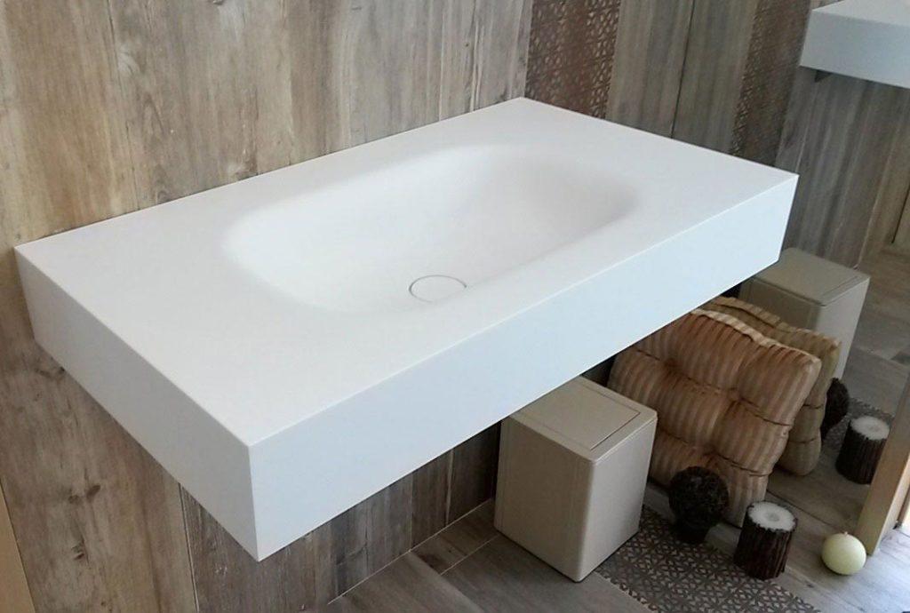 lavabo in corian installazione