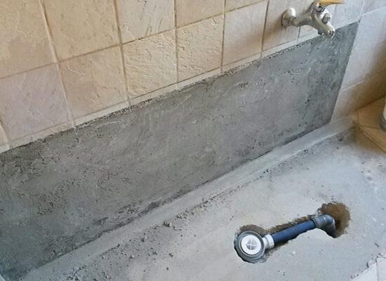 trasformazione da vasca in doccia scarico nuovo