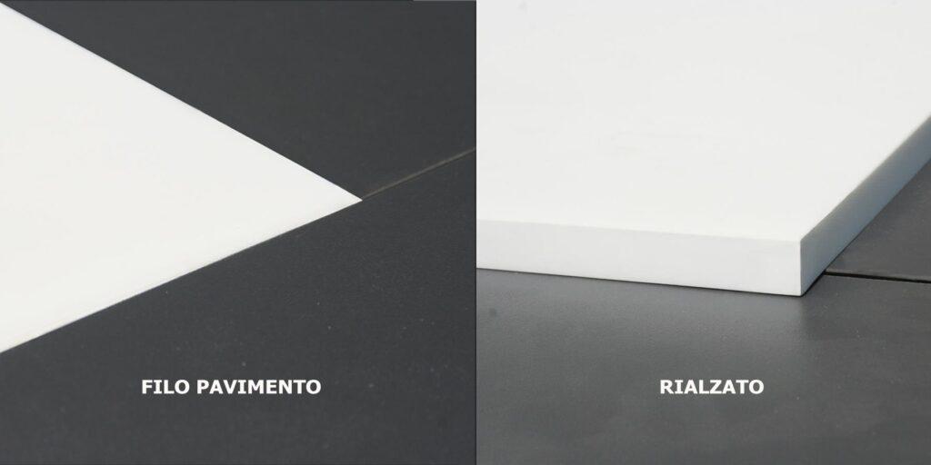 piatto doccia filo pavimento e rialzato di 3 cm